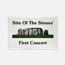 Site Of Stones' Concert Rectangle Magnet