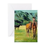 Horses By Riccoboni Greeting Card