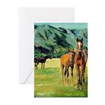 Horses by Riccoboni Greeting Cards (Pk of 10)