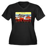 The Pike Women's Plus Size V-Neck Dark T-Shirt