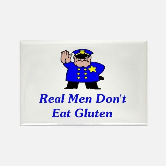 Real Men Don't Eat Gluten Rectangle Magnet