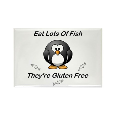Eat Lots Of Fish Rectangle Magnet