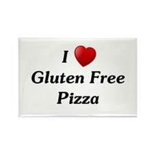 I Love Gluten Free Pizza Rectangle Magnet