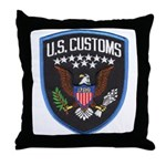 United States Customs Throw Pillow