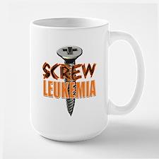 Screw Leukemia Large Mug