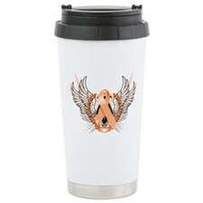 Awareness Tribal Orange Travel Mug