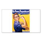 Rosie's Pro-Choice Rectangle Sticker