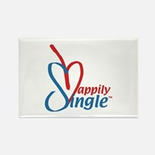 Happily SingleT Rectangle Magnet