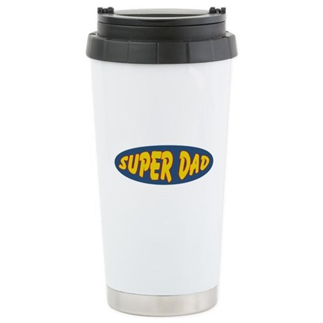 Super Dad (Oval) Stainless Steel Travel Mug