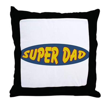 Super Dad (Oval) Throw Pillow
