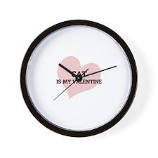 Cat Is My Valentine Wall Clock