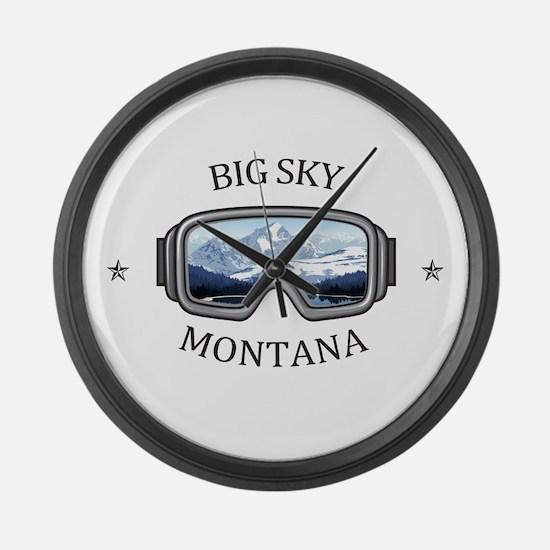 Big Sky - Big Sky - Montana Large Wall Clock