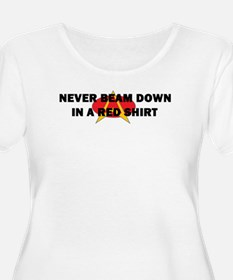 Never beam down in a red shir T-Shirt
