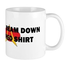 Never beam down in a red shir Mug