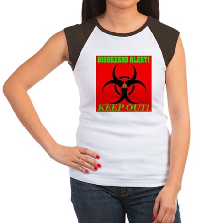 Biohazard Alert! Keep Out! Women's Cap Sleeve T-Sh