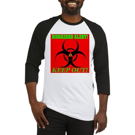 Biohazard Alert! Keep Out! Baseball Jersey