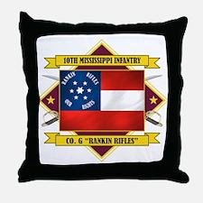 10th Mississippi -Rankin Rifl Throw Pillow
