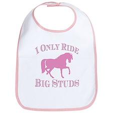 Big Studs - Prancing - Pink Bib