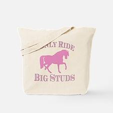 Big Studs - Prancing - Pink Tote Bag