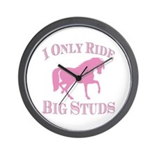 Big Studs - Prancing - Pink Wall Clock