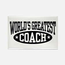 World's Greatest Coach Rectangle Magnet