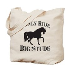 Big Studs - Prancing - Black Tote Bag