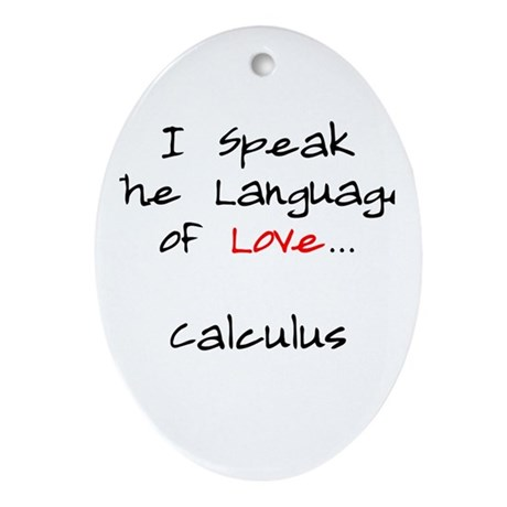 Calculus Love Language Ornament (Oval)