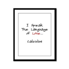 Calculus Love Language Framed Panel Print