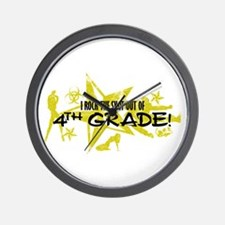 ROCK SNOT OUT - 4TH GRADE Wall Clock