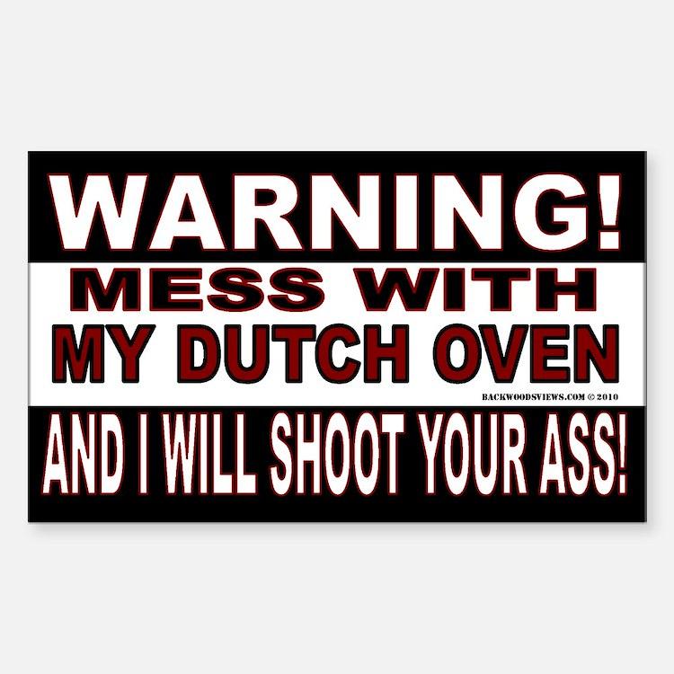 Warning Dutch Oven (Rectangle)