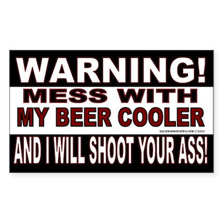 Warning Beer Cooler