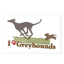 I love Greyhounds Postcards (Package of 8)