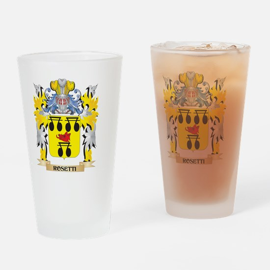 Rosetti Family Crest - Coat of Arms Drinking Glass
