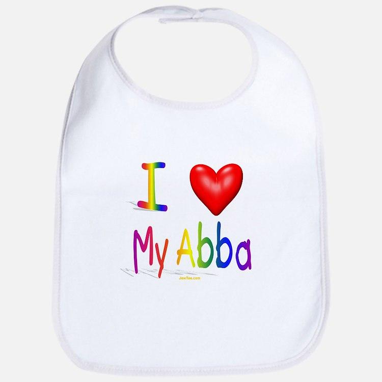 I Love Abba Bib