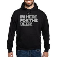 I'm Here For The Beer Hoodie (dark)
