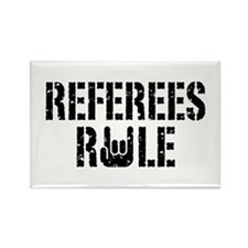 Referees Rule Rectangle Magnet