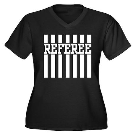 Referee Women's Plus Size V-Neck Dark T-Shirt