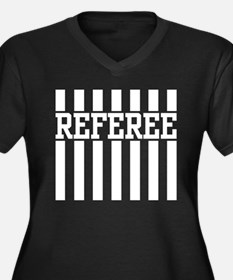 Referee Women's Plus Size V-Neck Dark T-Shirt