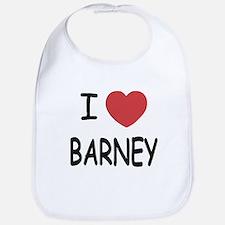 I heart Barney Bib