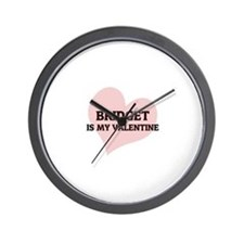 Bridget Is My Valentine Wall Clock
