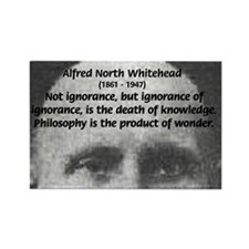 Whitehead Education Quote Rectangle Magnet