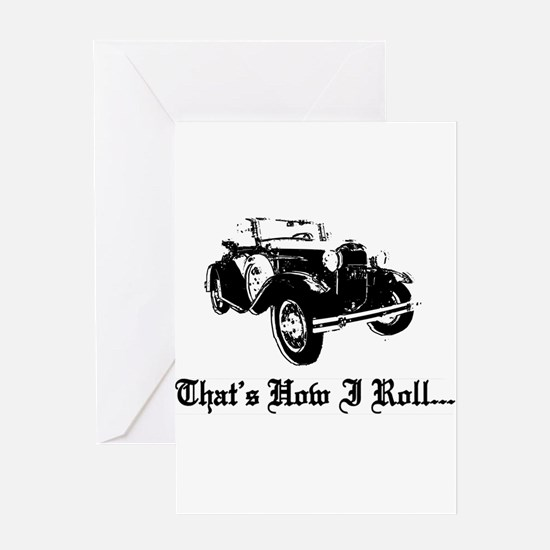 Unique Old cars Greeting Card