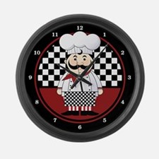 French Chef Large Wall Clock