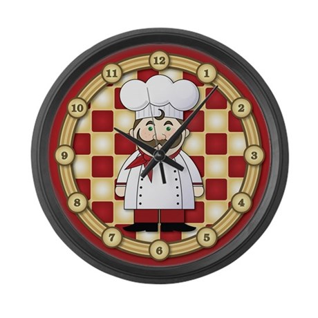Italian Chef Large Wall Clock