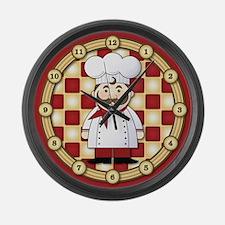 Italian Chef Large Wall Clock