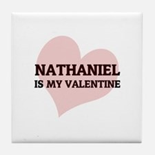 Nathaniel Is My Valentine Tile Coaster