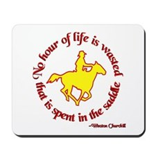 Horseback Riding Winston Churchill Mousepad