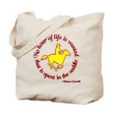 Horseback Riding Winston Churchill Tote Bag