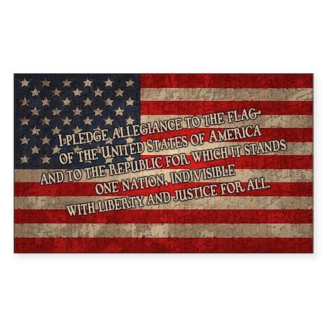 The Pledge Sticker (Rectangle)