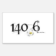 140.6 Daisey Design Decal